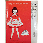 "Vintage 1952 McCall's Pattern – Old Apron Pattern for Betsy McCall – Size 14""-16"""