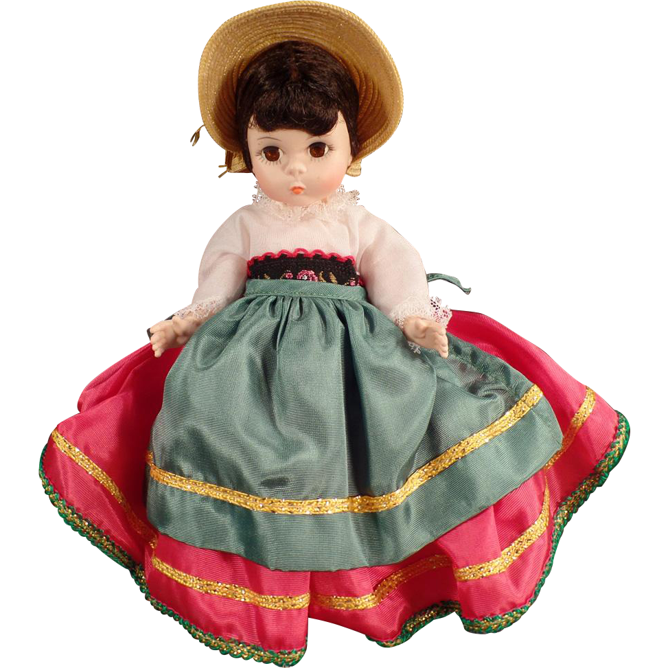 Vintage Madame Alexander Doll - Foreign Friends International - #593 Italy