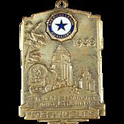 Vintage Watch Fob -  Old American Legion Auxiliary Fob - 1938 Los Angeles