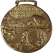 Vintage Watch Fob - Old Fob Celebrating California's Diamond Jubilee - 1925