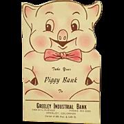 Vintage Cardboard Dime Saver - Old Piggy Bank Coin Saver