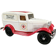 Old Texaco 1986  #3 Ford Delivery Van Bank - Old Ertl Die Cast