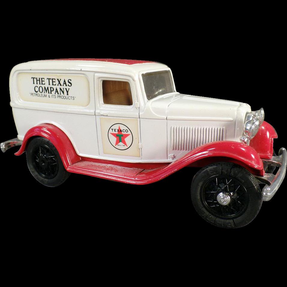 Old Texaco 1986  #3 Ford Delivery Van Bank - Old Ertl Die Cast