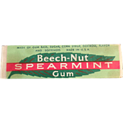 Vintage Stick of Chewing Gum - Old Beech-Nut Spearmint Gum ca. 1940's - 1950's