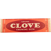Vintage Clove Chewing Gum - Old Sample Stick  ca. 1940's - 1950's