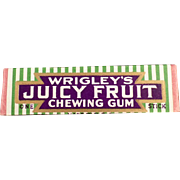 Vintage Chewing Gum Stick - Old Wrigley's Juicy Fruit - ca 1930's - 1940's