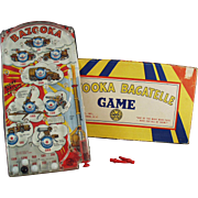 Vintage Marx Bazooka Bagatelle - Old Marble Game Toy with Original Box