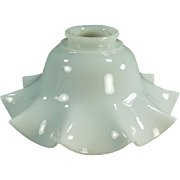 Vintage Light Fixture Shade - Old Milk Glass -Fluted Single Shade