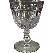 Vintage Fostoria Goblet - Old #2412 Colony Pattern Water Glass - Sun Purple - 8 Available