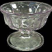 Vintage Sherbet Dish - Old Soda Fountain Dish - Sun Purple