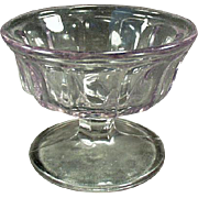 Vintage Sherbet Dish - Old Soda Fountain Dish - Sun Purple