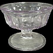 Vintage Sherbet Dish - Old Soda Fountain Dish - Paneled Sun Purple