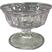 Vintage Sherbet Dish - Old Soda Fountain Dish - Paneled Sun Purple