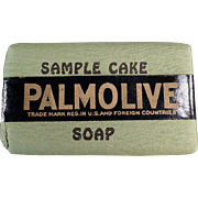Vintage Soap Bar Sample -  Old Palmolive Soap Sample Cake