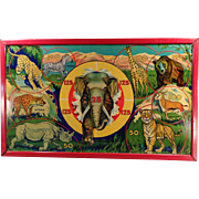 Vintage Target Game - Wild Africa with Original Box - Colorful Graphics of African Animals