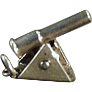 Vintage Sterling Silver Charm - Moveable Old Charm - Cannon