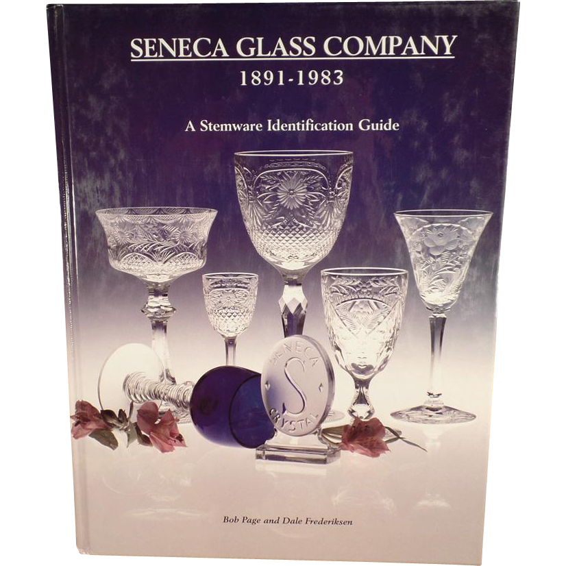 Old Reference Book - Seneca Glass Company - Stemware Identification Guide - Hardbound