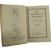 Vintage Tom Sawyer Book - Old Samuel Clemens Mark Twain Classic