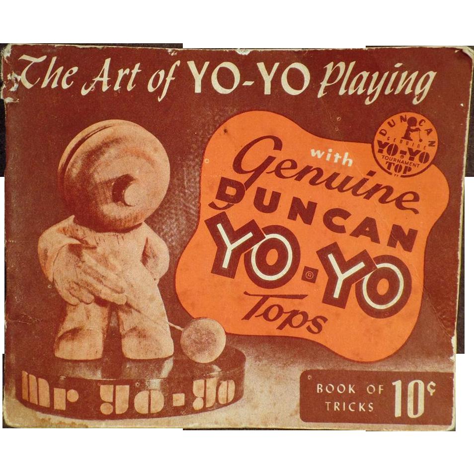 Vintage Yo-Yo Instruction Booklet  - The Art of Yo-Yo Playing - 1950
