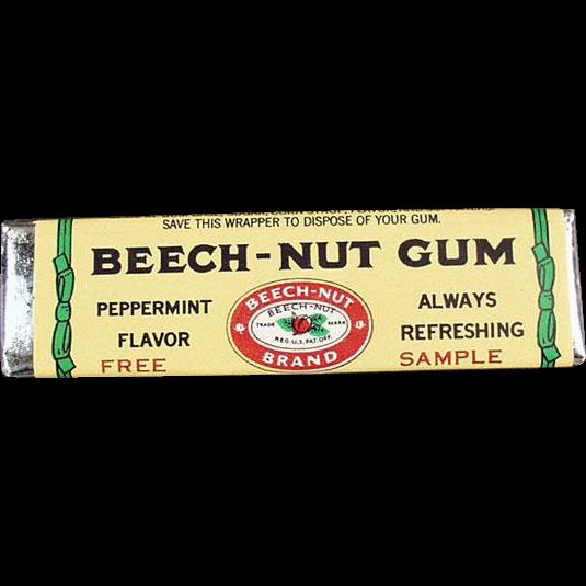 Vintage Beech-Nut Gum - Old Sample Stick