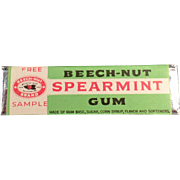 Vintage Beech-Nut Spearmint Gum - Old Sample Stick