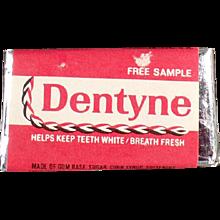 Vintage Gum Sample - Old Dentyne Tab