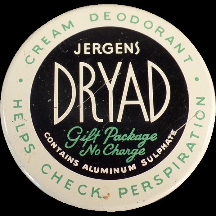 Vintage Jergens Dryad - Old Deodorant Jar