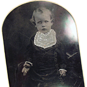 Vintage Tintype - Old Photograph - Young Child - Large Size Format