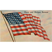 Vintage Postcard - The American Flag - Old  Patriotic Postcard
