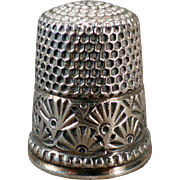 Vintage Sterling Silver Thimble - Ketcham and McDougall – Fancy Fan Design