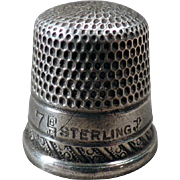 Vintage Sterling Silver Sewing Thimble - Goldsmith Stern – Small Child's Size