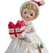 Vintage Josef Original - Old Christmas Girl Bell