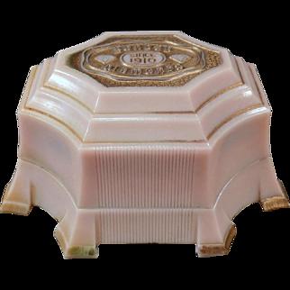 Vintage Earring or Cuff Links Box – Ornate Old Bakelite Jewelry Display Box