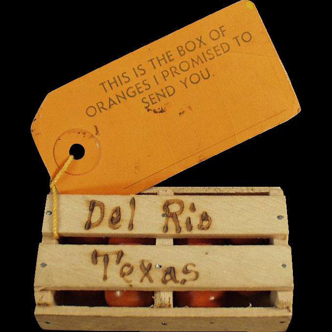 Vintage Promotional Mailer - Old Texas Souvenir - Orange Crate