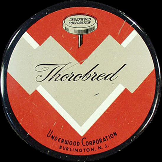 Vintage Typewriter Ribbon Tin - Old Underwood Thorobred Tin