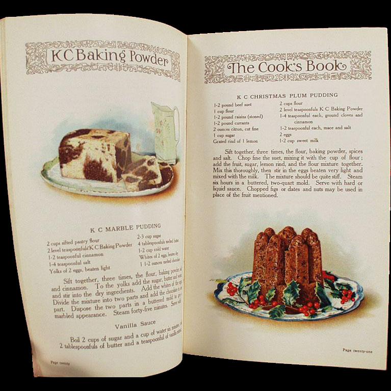 Vintage K C Baking Powder Advertising - Old Recipe Booklet