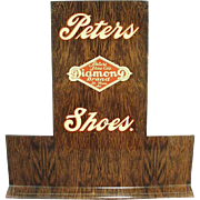 Vintage Advertising Shoe Display -  Old Peters Diamond Brand Shoes Stand