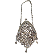 Small Vintage Coin Purse - Old Chain Mesh Purse - Germany