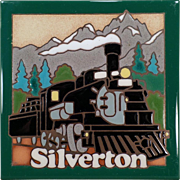 Old Hand Painted Ceramic Art Tile – Silverton Train – Masterworks Handcrafted Tile