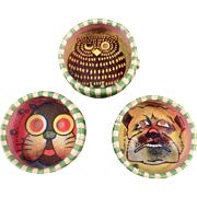 Vintage Dexterity Puzzles - Three (3) Different Designs - Cat, Dog  and Owl