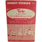Vintage Tru-Vue 3-Dimensional Slides - Disney Stories - Pinocchio and Peter Pan