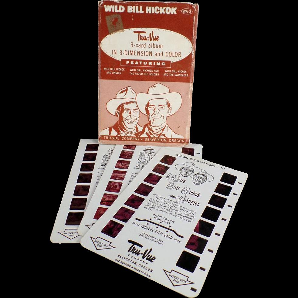 Vintage Tru-Vue 3-Dimensional Slides - Wild Bill Hickok - Three Old Slides