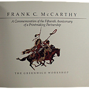 Old Paperback Book with the Work of Frank C. McCarthy - American West Artist
