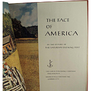 Old Book Saturday Evening Post Book - The Face of America - Hardbound