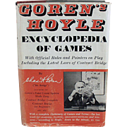 Vintage Book of Hoyle - Encyclopedia of Games by Goren - 1961 Hardbound