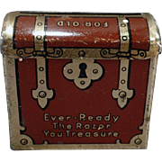 Vintage Ever-Ready Razor Blade Bank – Tin Treasure Chest Used Razor Keeper