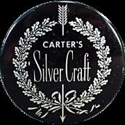 Vintage Typewriter Ribbon Tin - Old Carter's Silver Craft