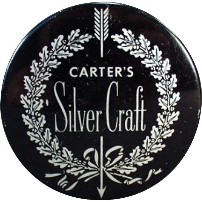 Vintage Typewriter Ribbon Tin - Old Carter's Silver Craft