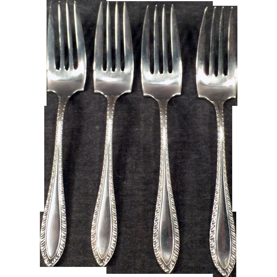 Vintage Sterling Silver Salad Forks – Set of 4 - Towle Godroon Pattern