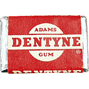 Vintage Chewing Gum Tab - Old Dentyne Sick of Gum